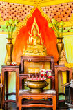 Buddha altar in a budhist temple Royalty Free Stock Photos
