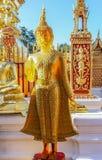 Buddha ambarino dourado em Wat Doi Suthep Chiang Mai Tailândia Fotografia de Stock Royalty Free