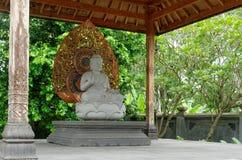 Buddha amoghasiddhi statue Stock Photo