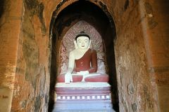 Buddha in Ananda Buddhist temple, Bagan, Burma Royalty Free Stock Photos