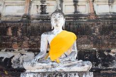 Buddha at the ancient city of Thailand. Wat Yai Chai mongkol Royalty Free Stock Photos