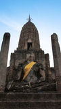 Buddha of Ancient Sukhothai ruins Stock Photography