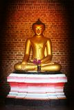 Buddha in ancient temple Stock Photography