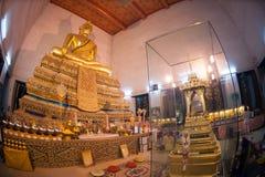 Buddha in ancient temple, Bangkok,Thailand. Royalty Free Stock Images