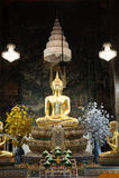 Buddha in ancient temple, Bangkok,Thailand. Stock Photos