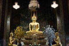 Buddha in ancient temple, Bangkok,Thailand. Royalty Free Stock Photo