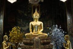 Buddha in ancient temple, Bangkok,Thailand. Stock Photography