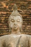 Buddha in an ancient temple royalty free stock photos