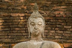 Buddha in an ancient temple royalty free stock images