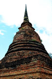 The Buddha in Ancient Temple. Royalty Free Stock Photos