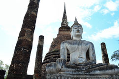 The Buddha in Ancient Temple. Stock Photography