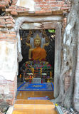 Buddha in ancient temple Royalty Free Stock Images