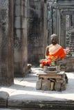 Buddha in Angkor royalty free stock image