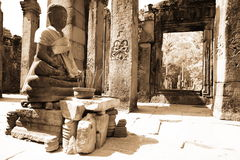 Buddha in the Angkor temples Stock Photography