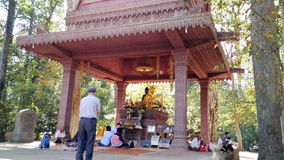 Buddha in Angkor Wat Stock Image