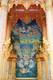 Buddha-Anstrich auf Wand im Tempel Stockbild
