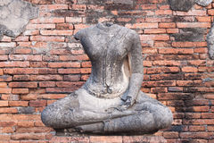 Buddha antiguo Fotos de archivo libres de regalías