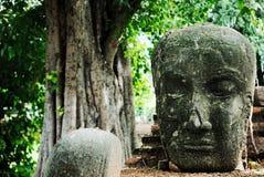 buddha antyczna głowa Obrazy Royalty Free