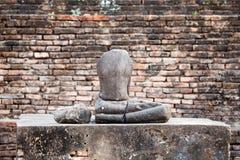 buddha antyczna statua park sukhothai historyczne obraz royalty free