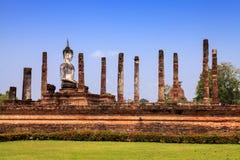 buddha antyczna statua park sukhothai historyczne obraz stock