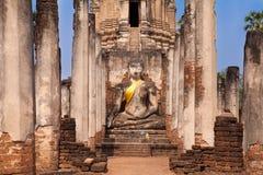 buddha antyczna statua park sukhothai historyczne fotografia stock