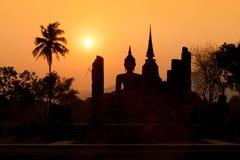buddha antyczna statua Sukhothai Dziejowy park, Sukhothai Prov obraz royalty free