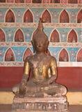 Buddha anziano in Wat Sisakhet, Laos fotografia stock