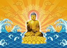 The Buddha appears Royalty Free Stock Image