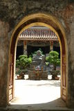 Buddha arch. An ancient arch with the view of a buddha Stock Image