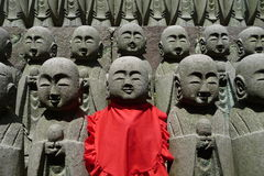 Buddha army at the Hase-Dera temple in Kamakura Royalty Free Stock Photos