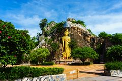 Buddha asia in thailand to outdoor it is beautiful stock photography
