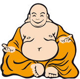 Cartoon character buddha Stock Photography