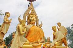 Buddha with attendant Royalty Free Stock Photography