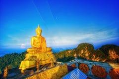 Buddha auf dem hilltoo Stockbild