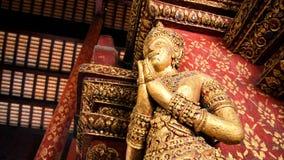Buddha auf der Wandecke Lizenzfreie Stockfotografie