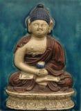 Buddha auf Fliese Stockfotos