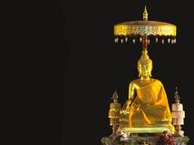 Buddha auf schwarzem Hintergrund Stockbilder
