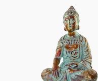 Buddha auf Weiß Stockfotografie