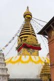 Buddha-Auge bei Swayambhunath, Nepal Lizenzfreie Stockfotos