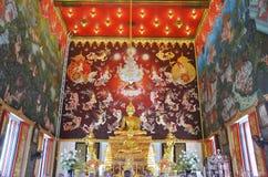 Buddha av den Bangpai templet Nontaburi Thailand Fotografering för Bildbyråer