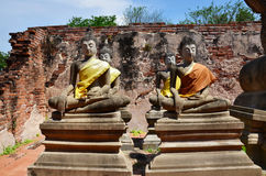 Buddha av den Putthaisawan templet Ayutthaya, Thailand Royaltyfri Foto
