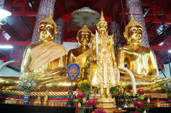 Buddha av den Putthaisawan templet Ayutthaya, Thailand Royaltyfria Foton