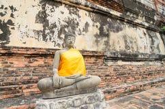 Buddha Ayuthaya, Tajlandia Obrazy Royalty Free