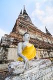 Buddha Ayuthaya, Tajlandia Obraz Royalty Free