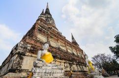 Buddha Ayuthaya, Tajlandia Zdjęcia Royalty Free
