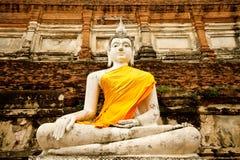 Buddha in ayuthaya Thailand. Siting buddha in ayuthaya Thailand Stock Photo