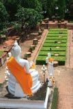 Buddha in ayuttaya  Thai Royalty Free Stock Photography