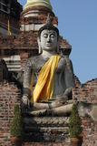 Buddha in Ayutthaya. Buddha is revered by Buddhists in Thailand Royalty Free Stock Photography