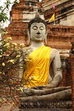 Buddha in Ayutthaya temple Stock Image