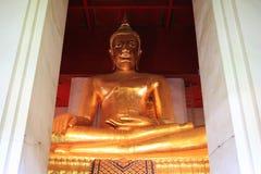 Buddha in Ayutthaya, Thailand. Golden buddha in Ayutthaya, Thailand Royalty Free Stock Image
